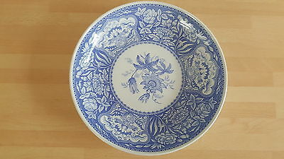 The Spode Blue Room Collection 'floral' Bowl Blue & White Rare Collectable 22Cms