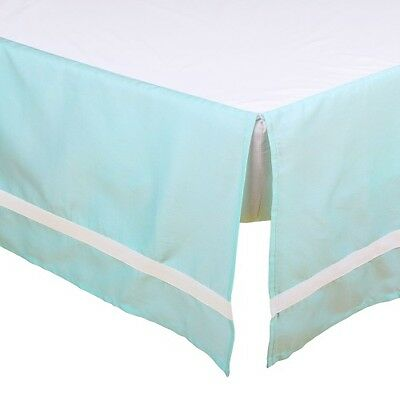 The Peanut Shell Solid Cot Dust Ruffle (Mint)