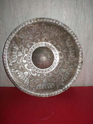Unique handmade copper and silver plate decorated Arabic ornaments from 17-18c