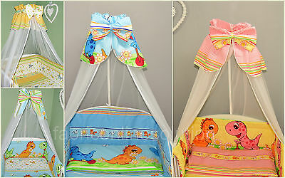 Canopy Drape/Moskito Net suitable for Cots, Cor Beds, Cribs, DINO design SALE!!!