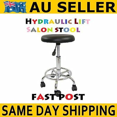 Stool Hydraulic GAS Lift Bar Chair Salon Massage Spa Nail Furniture Beauty Black