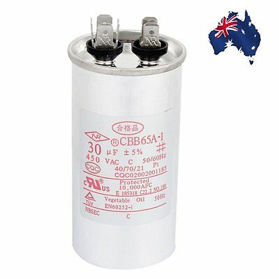AU Ship CBB65A-1 Model Air Conditioner Motor Run Capacitor 30uF 450VAC 50/60Hz