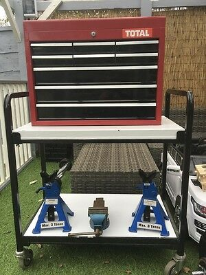 9 Drawer Tool Chest with trolley, and extras.