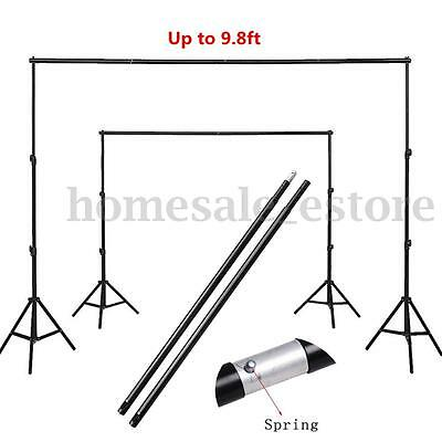4 Sections Adjustable Background Crossbar Studio Photo Backdrop Support 3m/9.8ft