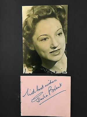 Gloria Brent hand signed autograph - actress