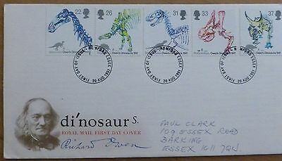 First Day Cover -20.8.1991 - Di'nosaurs - 5 stamps