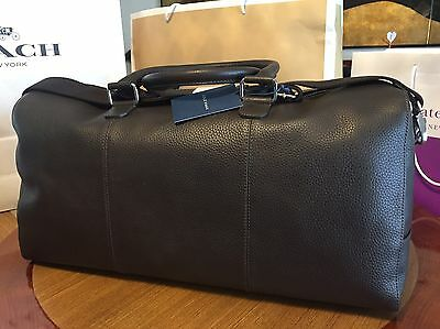 Cole Haan Pebbled Leather Duffle Duffel Bag Brown Was $500 65% OFF