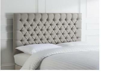 """BEAUTIFUL TOP QUALITy HEADBOARD IN CHENILLE FABRIC 30"""" HEIGHT"""