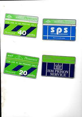 Hm Prisons Phone Cards 4 Different Styles Used Vg/cond