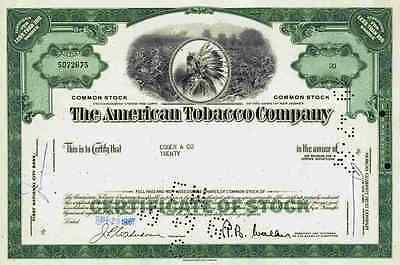 AMERICAN Tobacco Company 1960  Lucky Strike American Brands Less Than 100 Shares
