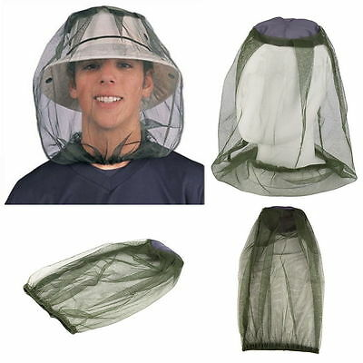 Midge Mosquito Insect Hat Bug Mesh Head Net Face Protector Travel Camping GN
