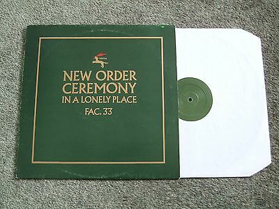 """NEW ORDER - CEREMONY / IN A LONELY PLACE """"Rare 1981 1st UK Press - Superb Audio"""""""