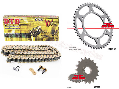 Yamaha FJ1200, 1986 to 1990 DID Gold X-Ring Chain & JT Sprockets Kit Set