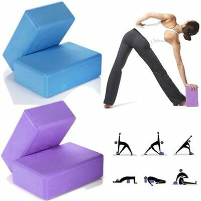 2X Yoga Block Brick Foaming Home Exercise Practice Fitness Gym Sport 4 Colors GN
