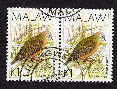 1988 Malawi Birds Lemon Dove 1K SG 801 FINE Used R30191