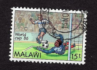 1986 Malawi World cup 15T SG747 FINE Used R30190