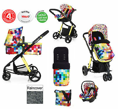 New Cosatto Giggle Pixelate 3 In 1 Travel System Pushchair 0+ Carseat Carrycot
