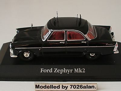 SCALE 1.43rd FORD ZEPHYR MK2 POLICE CAR ( LANCASHIRE DIVISION).