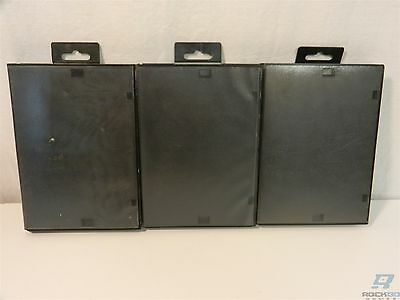 Lot of 3 Official Sega Brand Black Hard Plastic Dust Covers / Cases