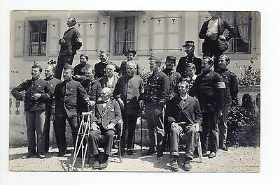 SUISSE SWITZERLAND Canton de VAUD YVERDON Carte PHOTO 9 militaires évenement 4