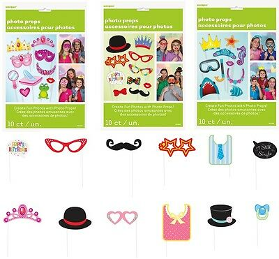 PHOTO BOOTH PROPS Birthday Wedding Party Accessories on Sticks Moustache Selfie