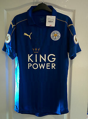 Ideal Xmas gift LCFC Fan Signed Jamie Vardy Leicester City Home Shirt 2016/2017