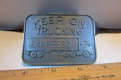 Vintage Belt Buckle-Keep On Trucking Express