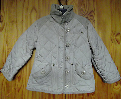 Next Girls Age 3 – 4 Years Fleece Lined Quilted Jacket Beige