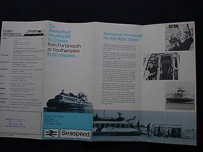 Seaspeed Hovercraft To Cowes Flight Information and Fares March to October 1967
