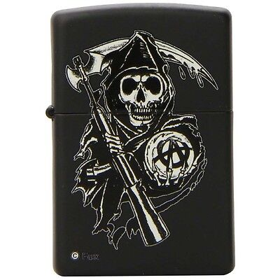 Zippo Sons of Anarchy Reaper Black Matte Pocket Lighter