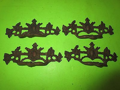 Lot 4 Matching Vintage Dresser Chest Drawer Pulls Hardware
