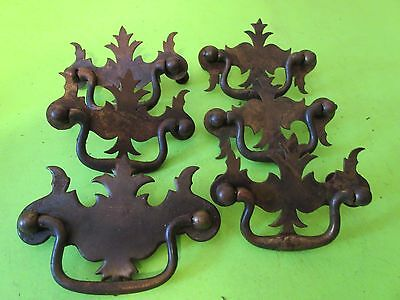 Lot 7 Matching Vintage  Dresser Chest Drawer Pulls Hardware 3 Diff Sizes