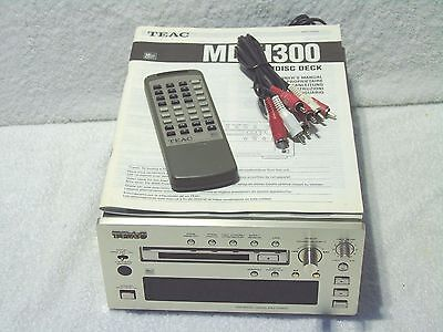 Teac MD-H300 Reference 300 Series MiniDisc Recorder Player + Manual & Remote