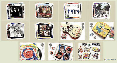 2007 The Beatles PHQ 293 - Mint PHQ Cards GB Set of 11 Royal Mail Post Cards