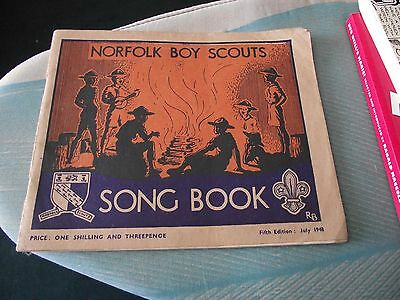 Norfolk Boy Scouts. Song Book. 1948.  80 Songs.