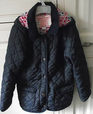 Monsoon - Navy Blue Quilted Coat - Age 7 - 8 Years