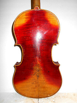 """Vintage Old Antique """"Andreas Guarnerius"""" 2 Pc. Back Full Size Violin - NR"""