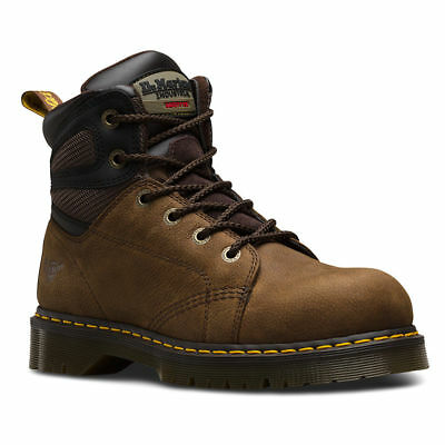 Dr Martens Docs Airwair SB Fairleigh brown waxy leather safety boot  size 6-13