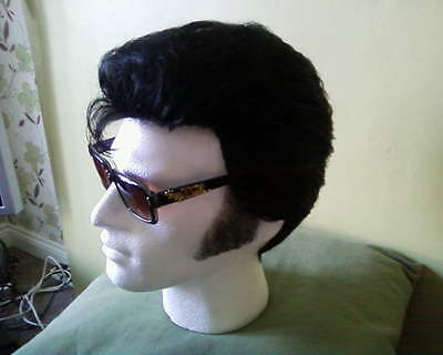Elvis  Impersonator Custom Made Professional Wig For Jumpsuit