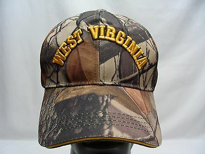West Virginia - Camouflage - Adjustable Ball Cap Hat!