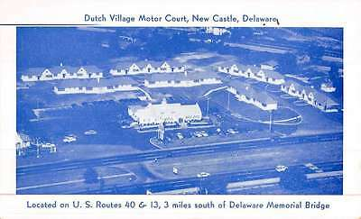 New Castle Delaware Dutch Village Motor Court Antique Postcard K47194