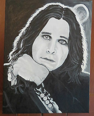 Ozzy Osbourne  --Hand Painted canvas!