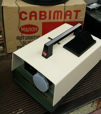 Vintage Cabimat Automatic Slide Projector by Manon. In box Works Great