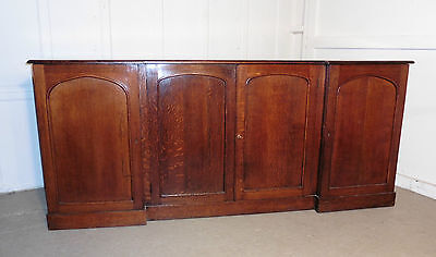 A Very Large Victorian Barristers 4 Door, Break Front Oak Bookcase