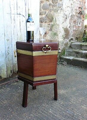 A Georgian Mahogany and Brass Wine Cooler