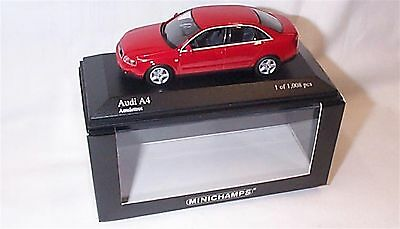 Audi A4 2000 Red 1-43 Scale Ltd edition New in Box