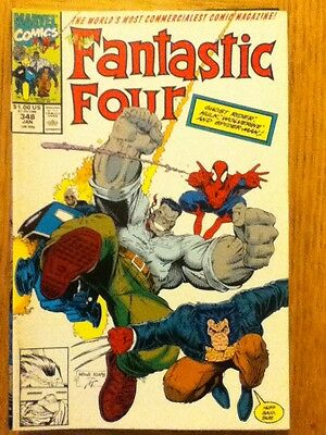 Fantastic Four issue 348 (VF) from January 1991 - postal discounts apply