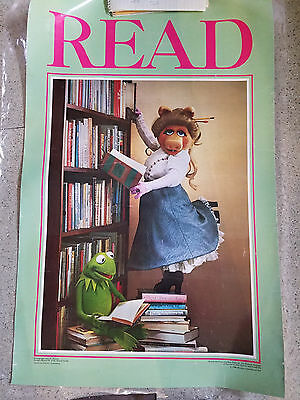 "two Miss Piggy READ posters 34"" x 22"" laminated 1980"
