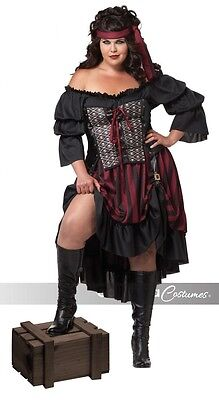 California Costumes Pirate Wench Dress Halloween Womens Adult Plus Costume 01715
