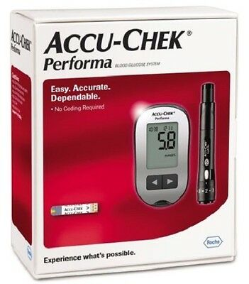 Accu-Chek Performa Blood Glucose Meter Glucometer + 60 Test-Strips, Kit By Roche